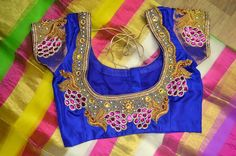 Embroidery Stone Blouse Back Necks for South Indian Brides #BridalBlouse #SouthIndianBridalBlouseDesign