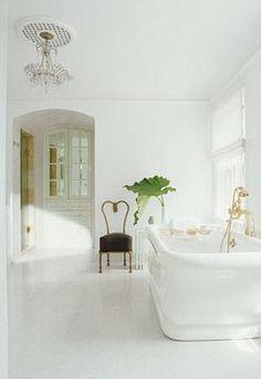 La Dolce Vita: Dream Home: Shelter Dream Bathrooms, Beautiful Bathrooms, White Bathrooms, Spa Bathrooms, Luxurious Bathrooms, Master Bathrooms, Home Shelter, Design Blog, Design Concepts