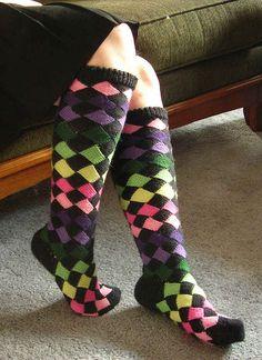 entrelac socks