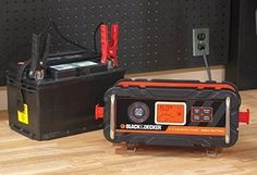 Black  Decker BC15BD 15 Amp Bench Battery Charger with Engine Start Timer >>> Click on the affiliate link Amazon.com on image for additional details.