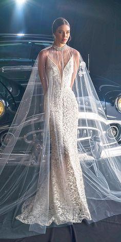 Unique Dany Mizrachi Fall 2018 Wedding Dresses - Wedding, Hochzeit, Brautmode, - Dresses for Wedding Wedding Dresses 2018, Bridal Dresses, Fall Dresses, Sheath Wedding Gown, White Gowns, Bridal Robes, Bridal Fashion Week, Dream Dress, Bridal Collection