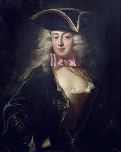 Emercjanna Pociej née Warszycka - Portrait paintings of women wearing tricorne hats -