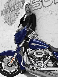 Harley Davidson, this bike reminds me of my mom, the girl to kinda just add some tattoos and get rid of the jacket.