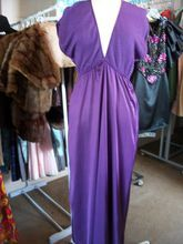 Vintage Donna Richards for Gilligan O'Malley Deep Purple Night Gown