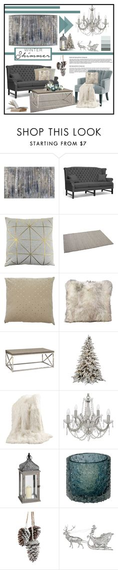 """""""Winter Shimmer"""" by sassyfashionista-101 ❤ liked on Polyvore featuring interior, interiors, interior design, home, home decor, interior decorating, Bloomingville, Manzella, Best Home Fashion and Laura Ashley"""