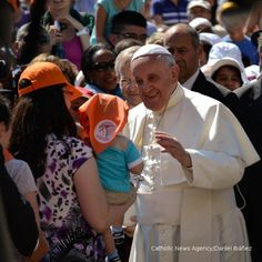 Pope Francis greets a little pilgrim at his general audience on June 4. #PopeFrancis #Catholic #Vatican #Rome #PapaFrank