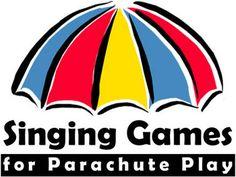singing/parachute play Kindergarten Music, Teaching Music, Preschool Music Activities, College Activities, Gross Motor Activities, Movement Activities, Teamwork Activities, Parachute Songs, Parachute Games For Kids