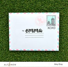 Personalised envelope by @aimesgray using @Altenew stamps  #stamping #personalized #envelope #personalised