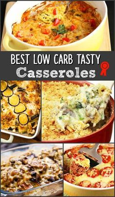 Best Low Carb Tasty Casseroles - The best, tasty low carb casserole recipes (healthy casserole recipes skinny meals) No Carb Recipes, Cooking Recipes, Healthy Recipes, High Protein Low Carb, Low Carb Diet, Best Low Carb Meals, Low Carb Casseroles, Casserole Recipes, Keto Casserole
