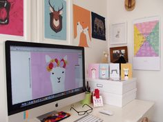 Behind the Scenes: An interview with Alice Berry - and a look inside her design studio: http://nzartprints.co.nz/2013/08/artist-interview-alice-berry/