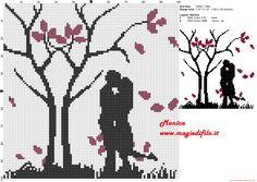 Schema punto croce Coppia innamorata