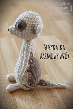 W pogoni za szyciem - inspired by Ania: SURYKATKA - AMIGURUMI - DARMOWY WZÓR - DIY - MEERKAT FREE PATTERN IN ENGLISH