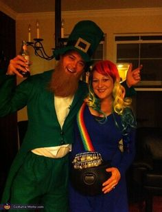 Looks like somebody got lucky! And while you could definitely pull off the whole end-of-the-rainbow thing without a leprechaun companion, here's hoping your significant other is up for wearing a funny green hat -- because the combo is just too cute.  More from  The Stir :  6 Creative Halloween Costumes for Babywearing Mamas (PHOTOS)