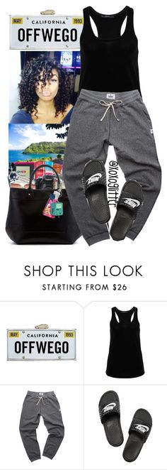 """""""Off We Go.."""" by xoxoglitter ❤ liked on Polyvore featuring Kate Spade, Hallhuber and NIKE"""