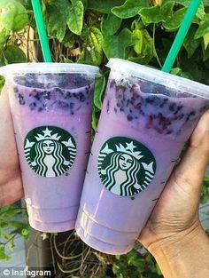 Starbucks Purple Drink: Passion Iced Tea, soy milk, and vanilla syrup