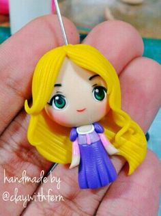 Polymer clay Rapunzel by fern