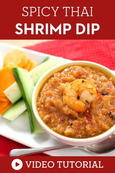 This wonderful shrimp dipping sauce is a must try! Learn how to make it with a step by step instruction on video.This authentic Thai appetizer is simple and healthy. Made simply from shrimp and Thai herbs, it's the perfect addition to any meal. #thaidip #thairecipe #shrimpdip Easy Asian Recipes, Thai Recipes, Sauce Recipes, Vegan Recipes, Dip Recipes, Laos Recipes, Party Recipes, Vegetable Recipes, Thai Shrimp