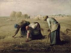 The Gleaners c. 1857 Artist: Millet Period: Realism Millet was a member of the Barbizon school of painting, painted rural towns. shows the nobility of the poor, the nobility of hard work. Seen by the public as a socialist painting. Art Gallery, Google Art Project, Millet, Millet Paintings, Barbizon School, Fine Art Painting, Jean Francois Millet, Realism Art, Art History