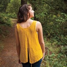 While we are still in the throes of winter, temperatures are slowly warming up, causing us to think of sunnier and warmer days ahead. This easy yet adorable knit Split Back Tank top in it's gorgeous shade of yellow, is just the thing to jump start Spring in your mind! It is knit in a …