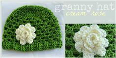 Lanas Hilos: GRANNY WHITE HAT ~ free pattern