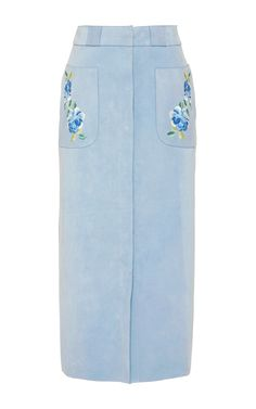 Lisa suede embroidered skirt by Vilshenko