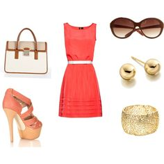 Corals, created by sarahmelo17 on Polyvore