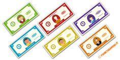 Qui trovate soldi finti per bambini pronti da stampare per giocare a qualsiasi gioco: banconote false da 1,5,10,20,50,100 euro per imparare a contare e usare il denaro