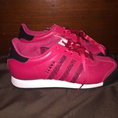 5e8be2834f6 Adidas Samoa in Pink  amp  black💟 These shoes are beautiful