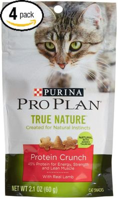 Bundle Pack of 4 Purina Pro Plan True Nature Protein Crunch Bite Cat Snacks With Real Lamb and Added Taurine Four (4) 2.1 Ounce Pack >>> You can find out more details at the link of the image.