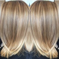 "Mane Interest on Instagram: ""Beige and butter. Color by @hairstylistsherrib  #hair #hairenvy #haircolor #blonde #highlights #balayage #newandnow #inspiration…"""