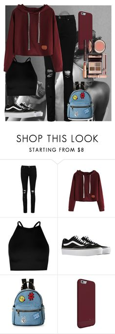"""""""usual"""" by adelina-ioana-gavril on Polyvore featuring Boohoo, Vans, IMoshion and Charlotte Tilbury"""
