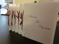 Custom Wedding Ceremony Program Booklets Made to Match Your Invitations by Becky J