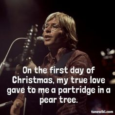 "-- #LyricArt for ""Twelve Days of Christmas"" by John Denver"