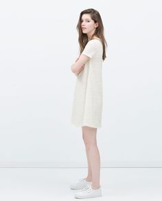 Image 1 of JACQUARD FLARED DRESS from Zara