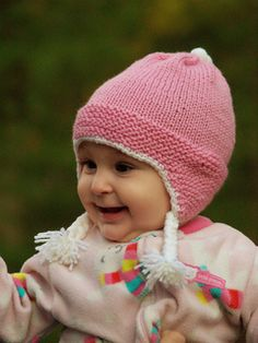 Garter stitch Baby Earflap Hat