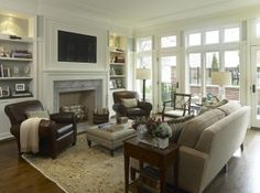 living arrangement ideas | Living Room Decorating Ideas on a Budget - Classy and Neutral Family ...