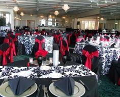 Champion-Johnson (06/01/13) Reception | Black with Red Accents | Bon Appetit Weddings Dunedin Florida