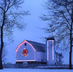 A beautiful holiday barn...