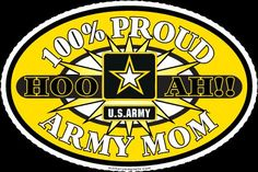 100% Proud Army Mom - MilitaryAvenue.com