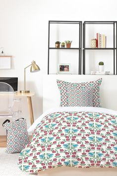 Belle13 Love and Peace floral bird pattern Bed In A Bag | DENY Designs Home Accessories