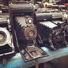 On my last trip to London I found these amazing old vintage cameras for sale in an outdoor market. by Indigo Arts