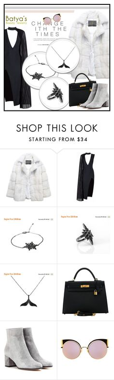 """""""Batya's Beauty Jewelry :)"""" by sabine-rose ❤ liked on Polyvore featuring Lilly e Violetta, Posh Girl, Hermès, Gianvito Rossi and Fendi"""