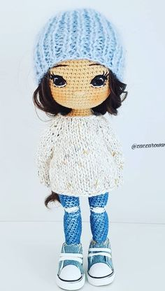 45 Best Amigurumi Patterns to Melt Your Heart for This Year 2019 Part best amigurumi yarn; Knitted Dolls, Crochet Dolls, Knit Crochet, Amigurumi Doll, Amigurumi Patterns, Crochet Doll Pattern, Crochet Patterns, Doll Patterns Free, Free Pattern
