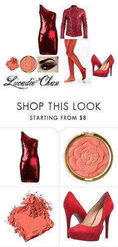 Red hot date design by lucadie-chan on Polyvore featuring beauty, Milani, Bobbi Brown Cosmetics, Yves Saint Laurent, Urban Outfitters, Jessica Simpson and Balmain