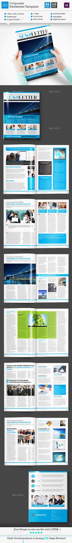Corporate Newsletter  Print Templates Newsletter Templates And