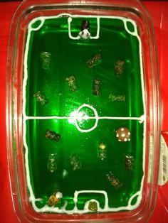 Fussballfeld-Götterspeise