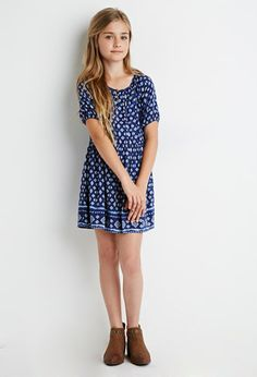 Abstract Print Dress (Kids) | Forever 21 girls - 2002247868