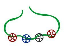 Train Wheel Necklaces - Jewelry Crafts for Kids | Sprout