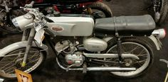 """Post-Sale Update: After 13 bids on eBay, this Fireball sold for $1,700. Despite the name, this bike (a rebadged Benelli Fireball sold out of Montgomery Wards stores) has a 49cc engine. Maybe the name translates to """"4"""" – number of gears in the transmission and """"50"""" – displacement? I've always thought these bikes had a 50cc engine but the seller ..."""