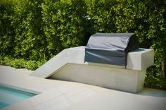 Grill, Cast Concrete, White Outdoor Kitchens ConcreteNetwork.com ,